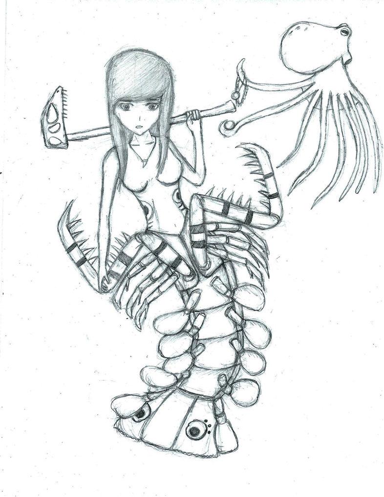 786x1017 Mantis Shrimp Gijinka By Makutakrika