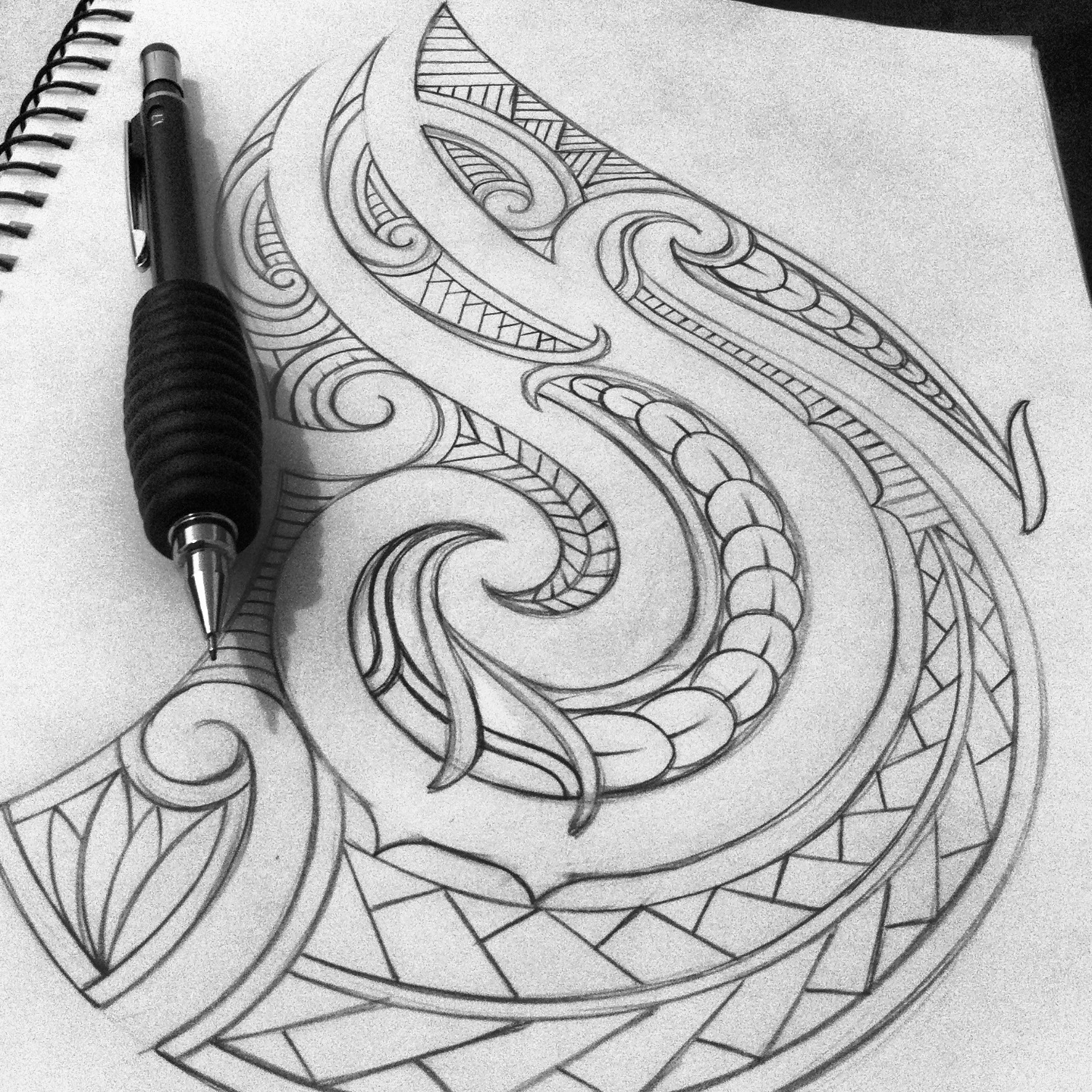 1440x1440 Maori Tattoo Design Wallpaper Wp3008379