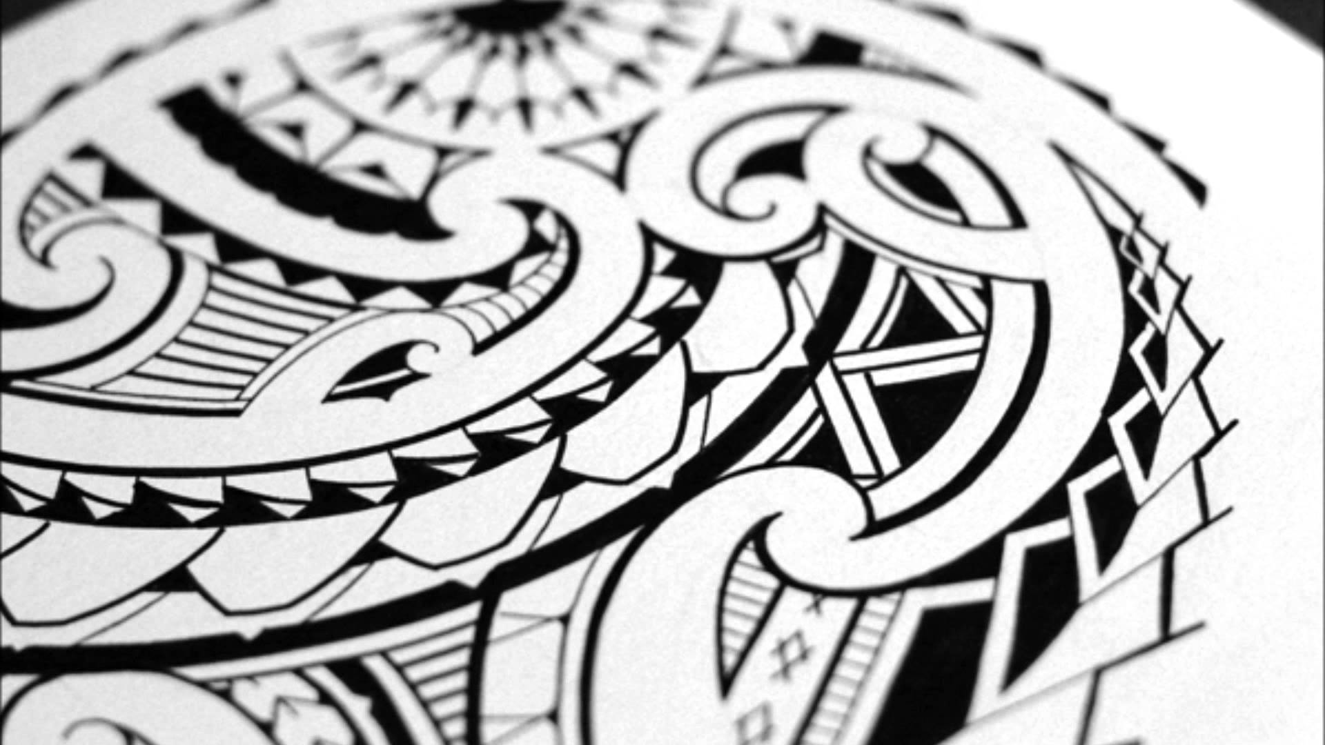 1920x1080 Sketching A Quarter Sleeve Maori Tribal Tattoo