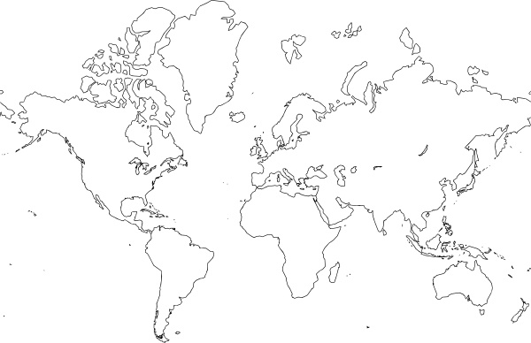 600x388 World Map Clip Art Free Vector In Open Office Drawing Svg ( Svg