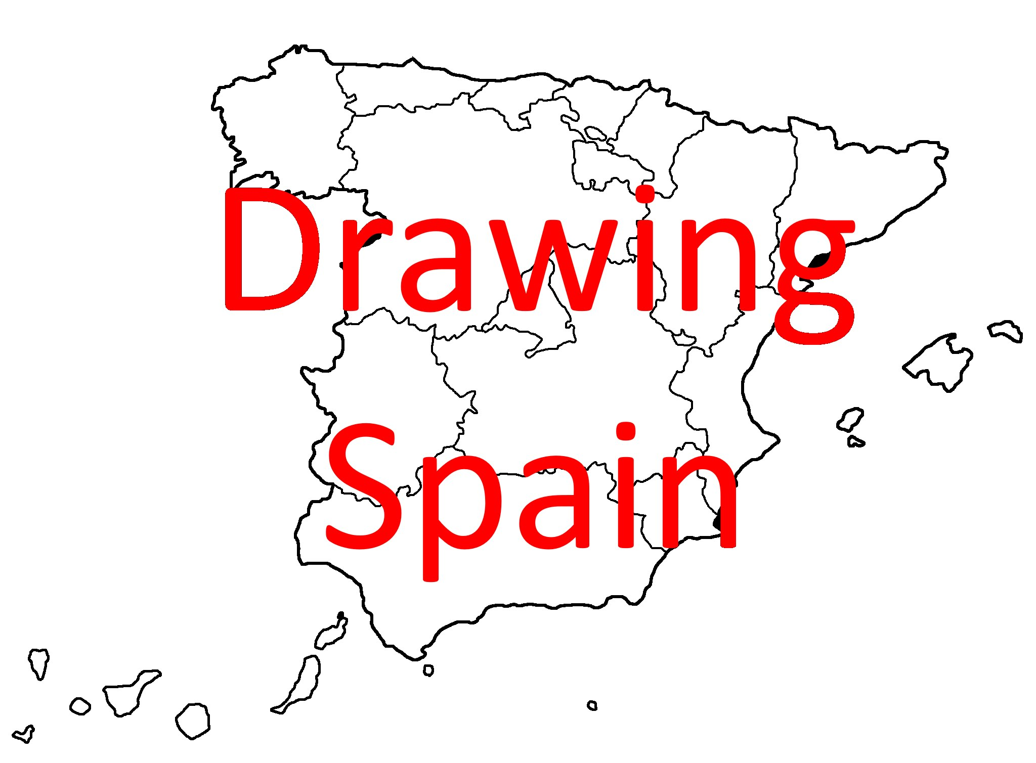 2048x1509 Drawing Map Of Spain Part 1 Country And Autonomous Communities