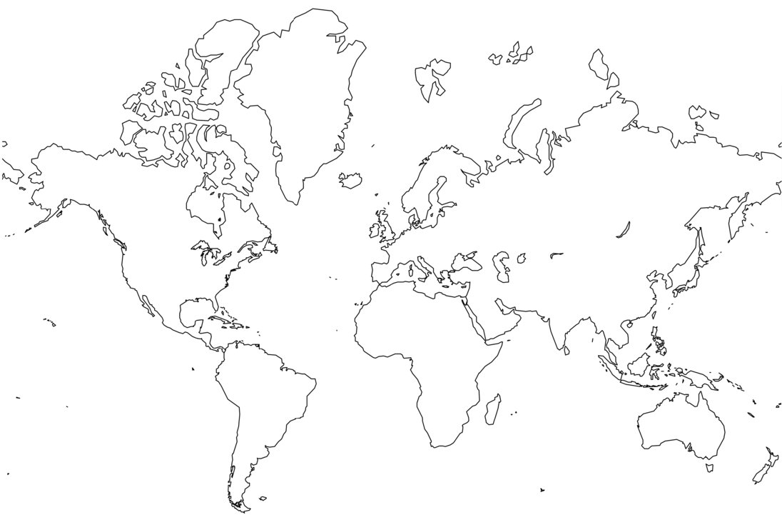 1096x728 Free Printable World Map Coloring Pages For Kids
