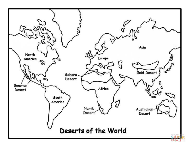 792x612 Map Of Deserts Coloring Page Free Printable Coloring Pages