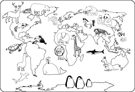 450x308 Pictures World Map Drawing For Kids,