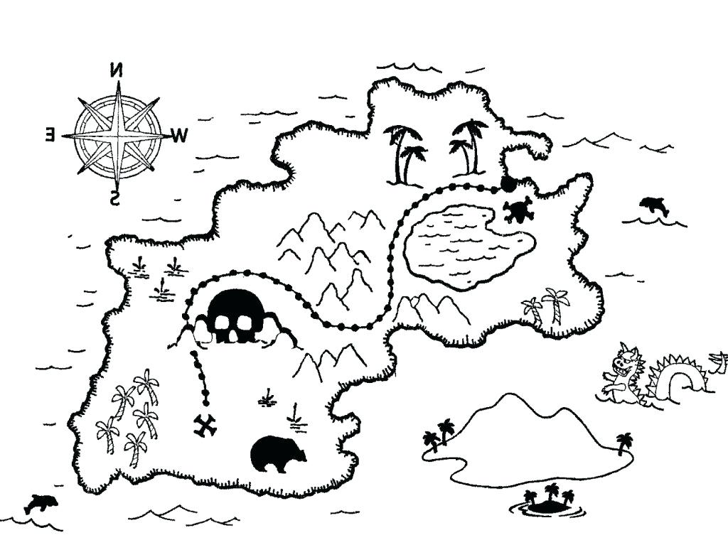 1024x760 Pirate Map Coloring Page Treasure Map Coloring Pages Coloring