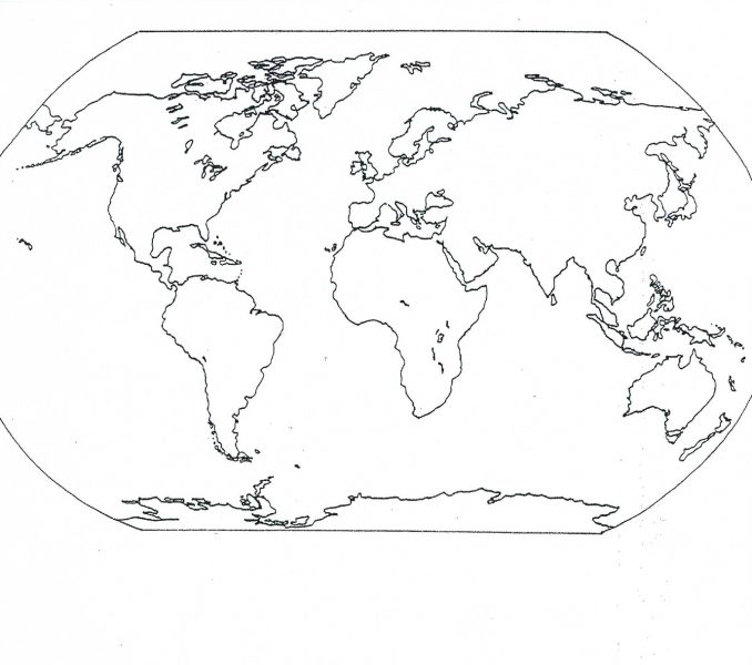 678x600 Printable Map Of World For Kids Kids Coloring