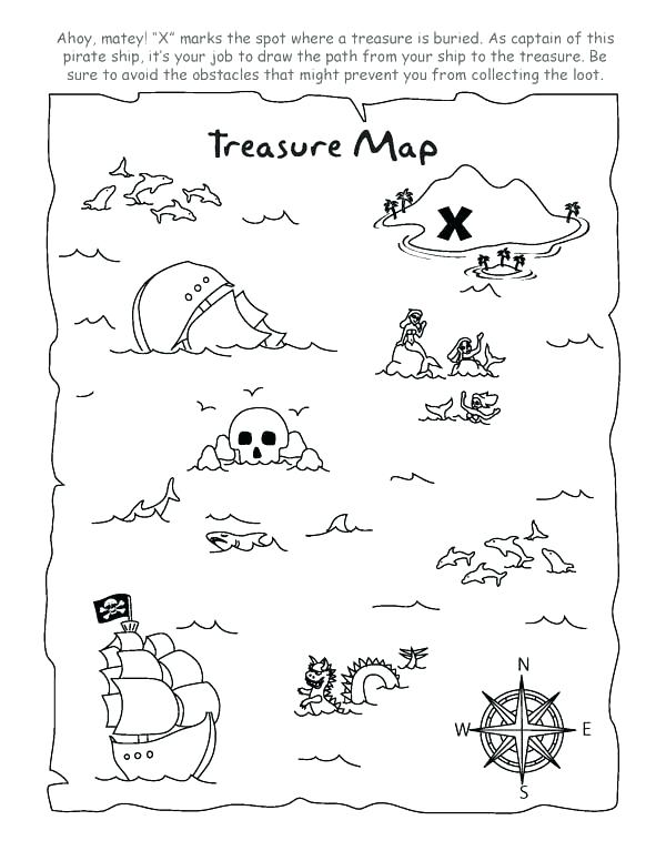 600x776 Treasure Map Coloring Pages Cool Treasure Map Coloring Pages Kids
