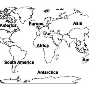 300x300 World Map Coloring Page For Kids Free Download