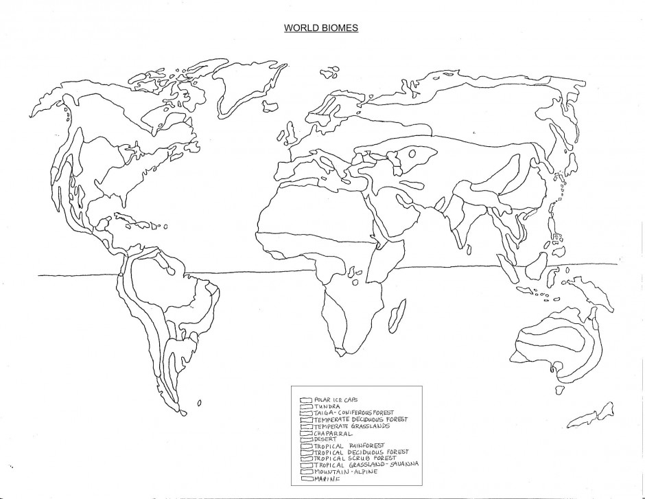 940x727 Biome Map Of The Us Drawing On World Biomes Coloring Page Kids