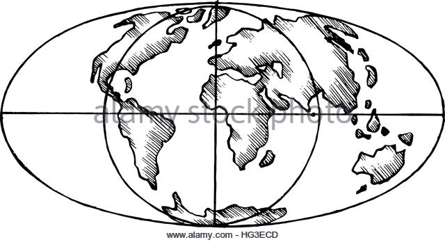 640x348 Line Drawing World Map Stock Photos Amp Line Drawing World Map Stock