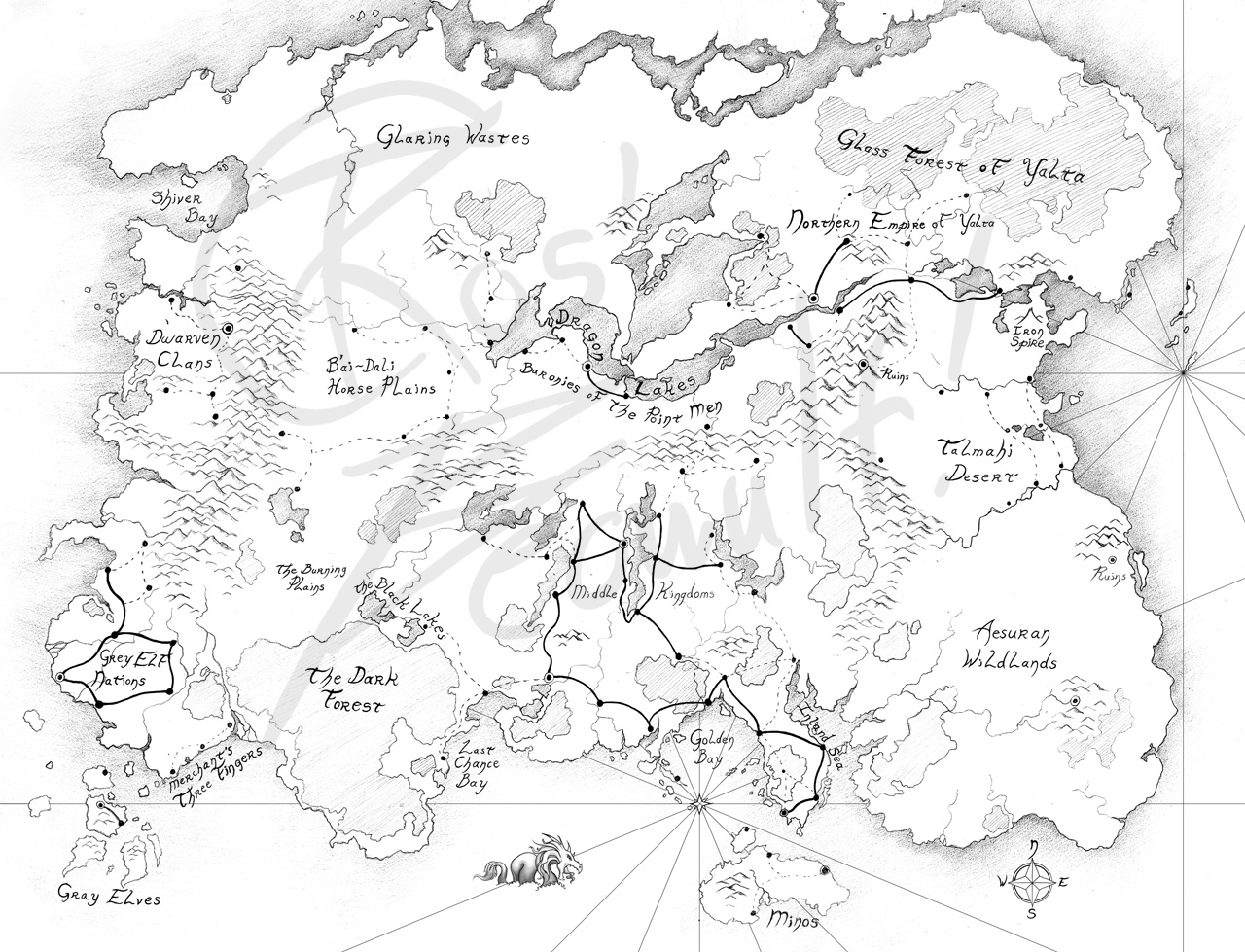 1280x979 Woooooah, Map D By Beowulf Kennedy