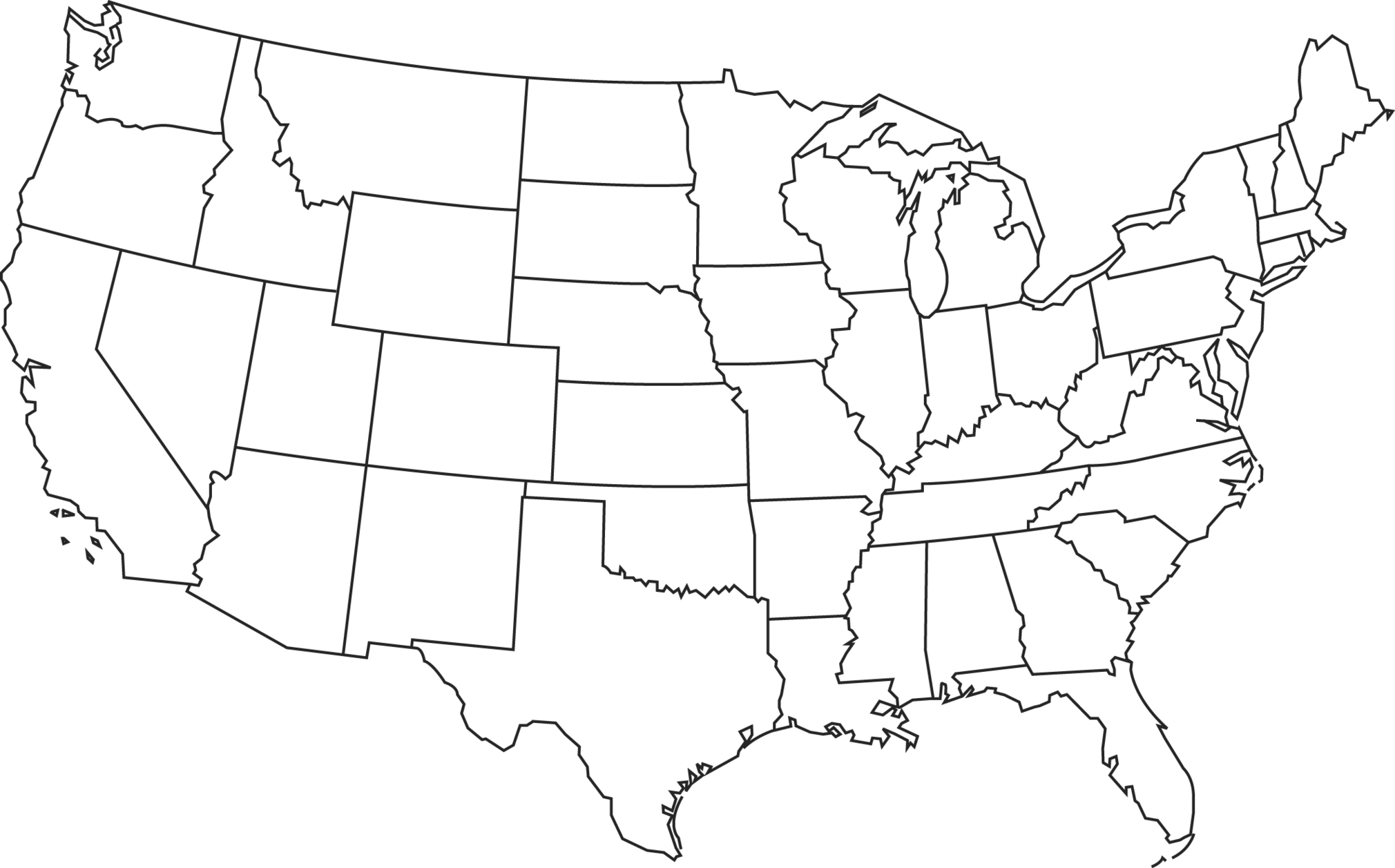2020x1257 United States Template Map