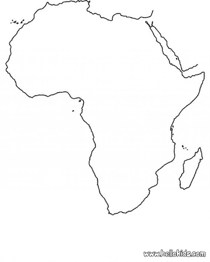 683x850 Africa Map Coloring Page Animal Ideas Africa Map