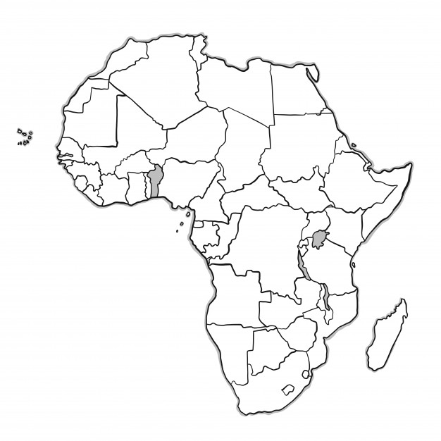 626x626 Doodle Africa Map Vector Free Download