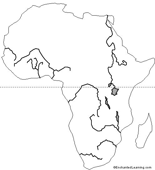 495x545 Major Rivers Of Africa Kids Map History