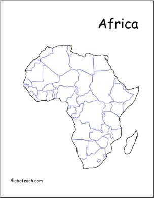 304x392 Map Africa (Unlabeled Countries) Abcteach