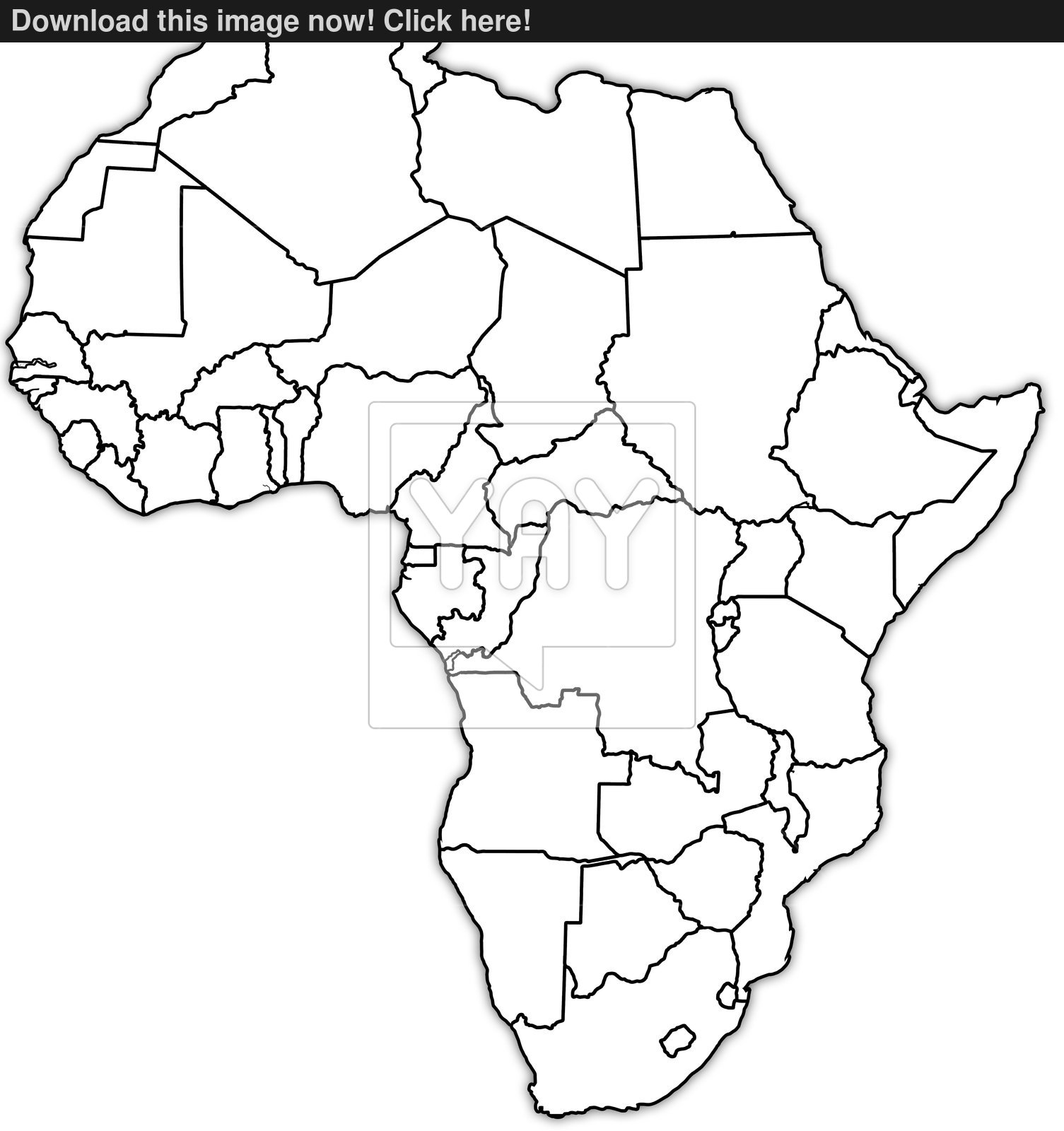 1505x1600 Africa Political Map Image