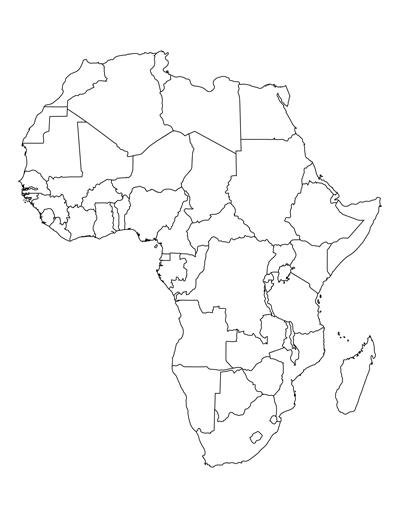 400x518 Blank Africa Map
