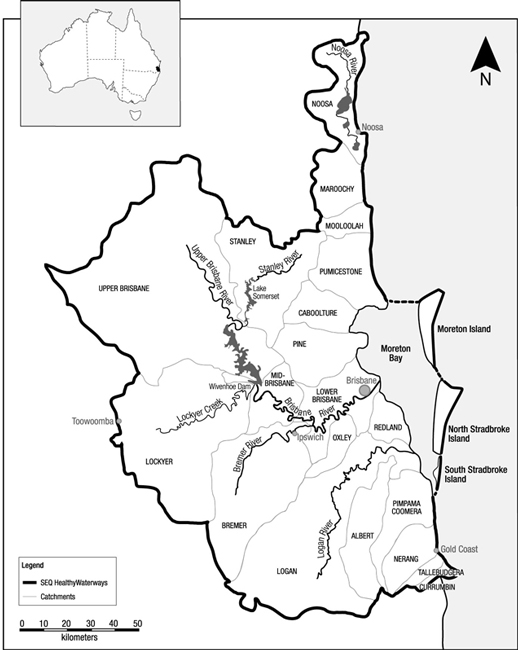 518x650 Fig. 1. Map Of The Southeast Queensland Region, Australia, Showing