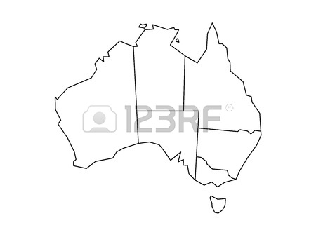 450x338 simplified map of australia divided into states and territories