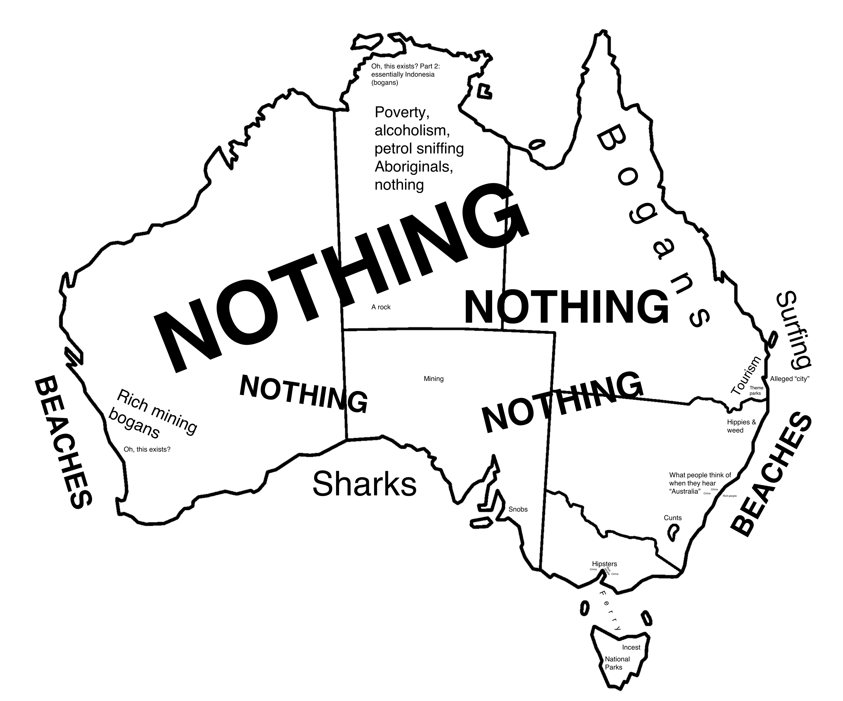 2681x2232 Stereotype Map Of Australia [Oc] [2681 X 2232] Mapporn