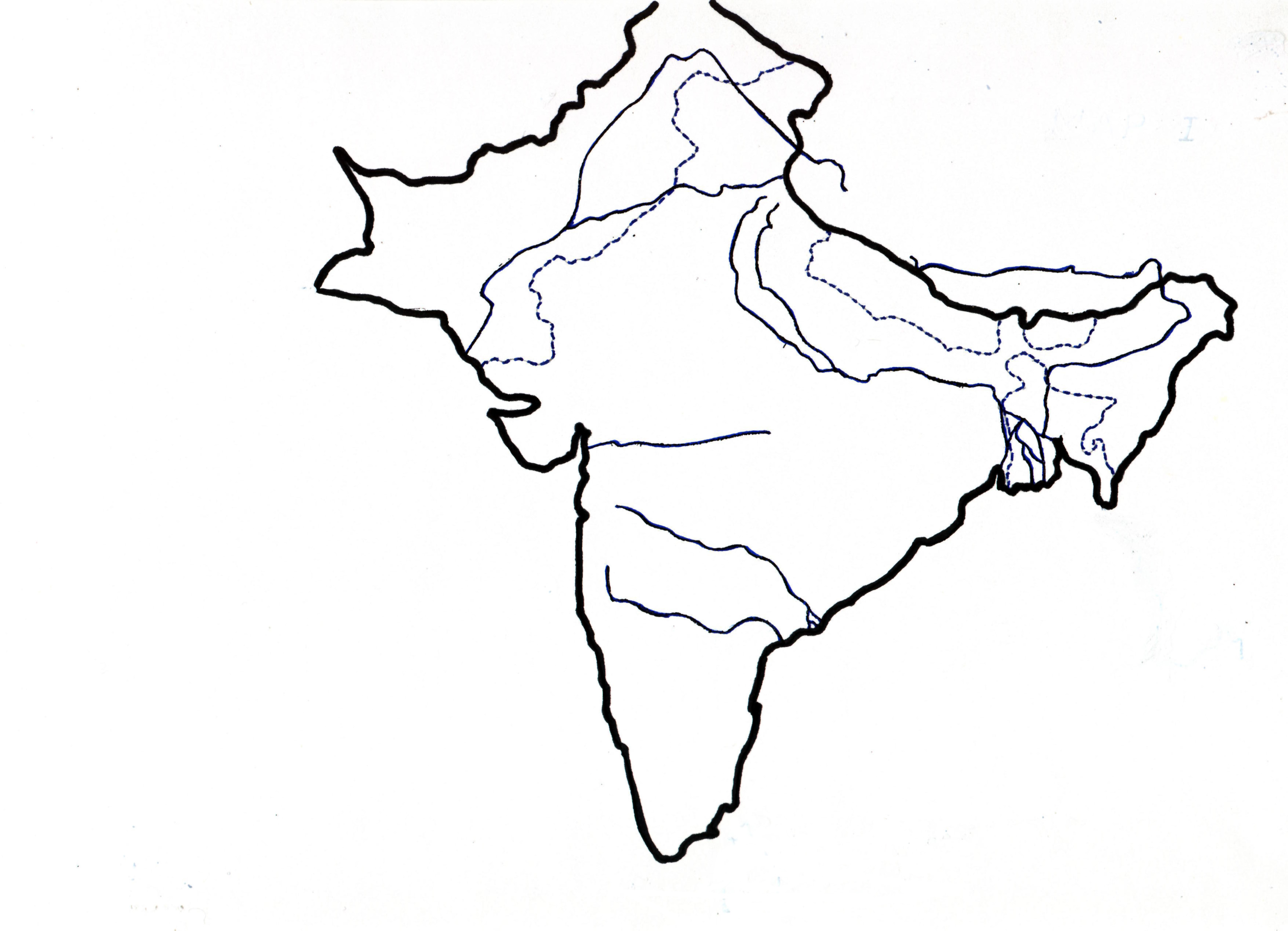 Outline Map Of Subcontinent on white ford atlas