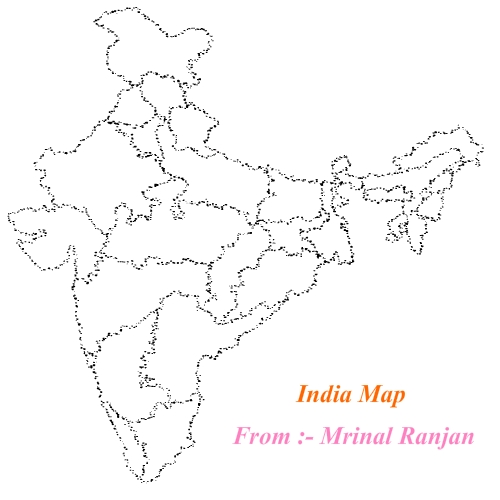 500x500 Map Of India Made Flash. By Marts7