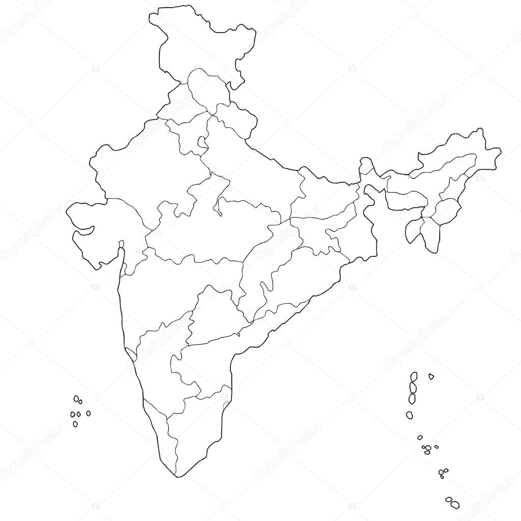 1024x1024 Map Of India Stock Vector Belyaev71