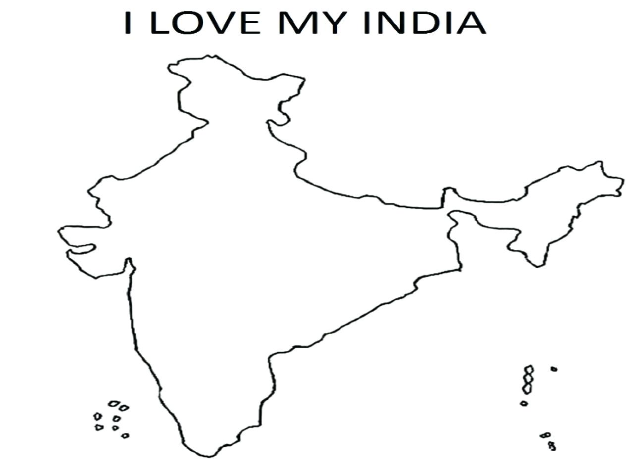 1280x960 Coloring Map Of India Coloring Page