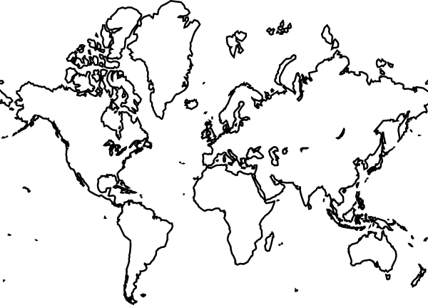 Map of the world drawing at getdrawings free for personal use 600x428 world map clip art gumiabroncs Choice Image