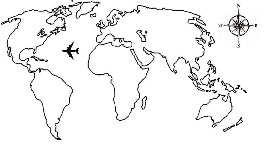 Map of the world drawing at getdrawings free for personal use 927x515 black outline world map with compass tattoo stencil by tim williamson gumiabroncs Choice Image