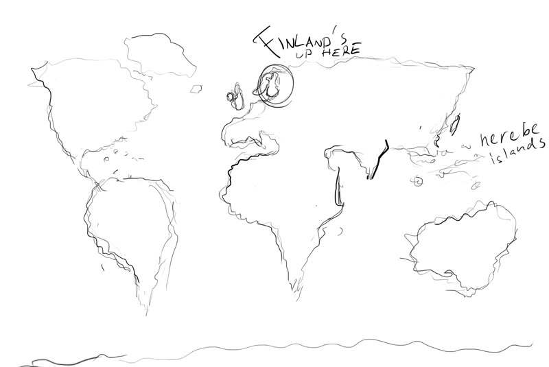 800x535 How To Draw The World Map Printable Us Maps