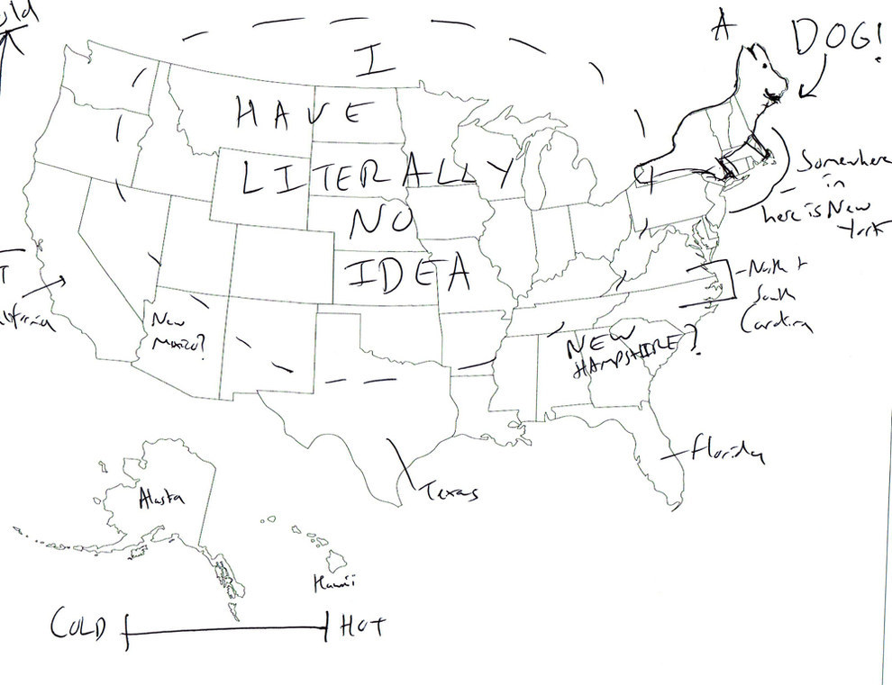 990x761 British People Hilariously Label A Map Of The United States.