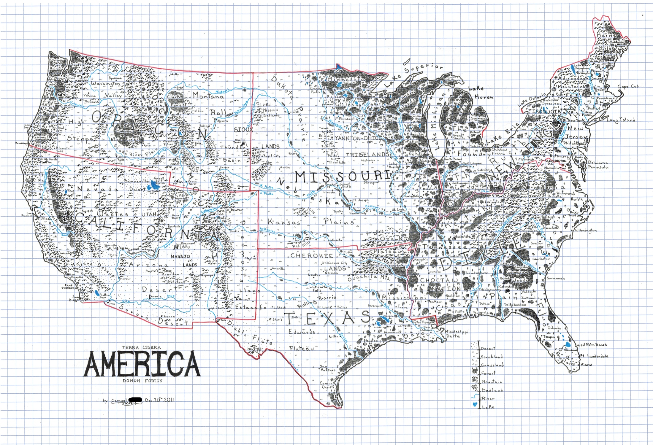 Map Of Usa Drawing
