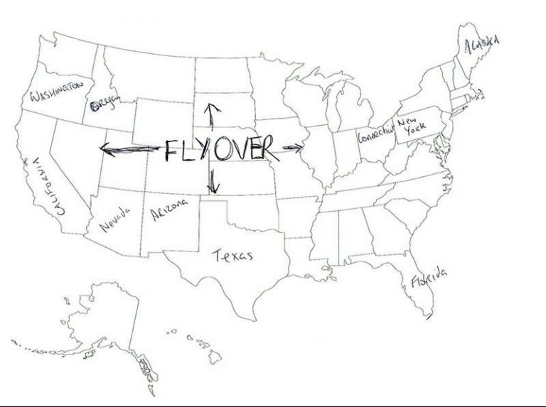 768x573 These 13 Maps Of The Usa Drawn By British People Are Completely