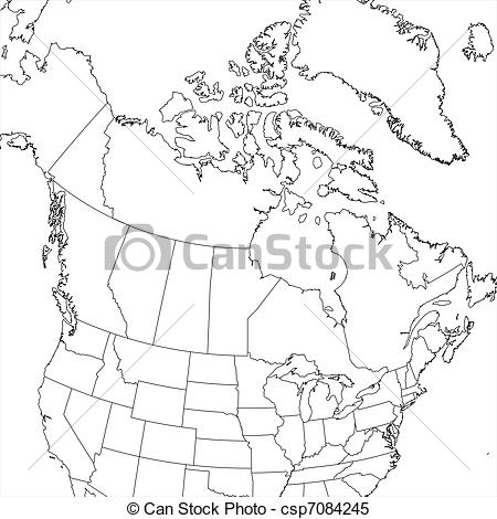 450x470 vector artwork map of us