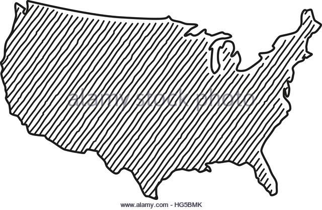 640x417 Drawing Map Usa Stock Photos Amp Drawing Map Usa Stock Images