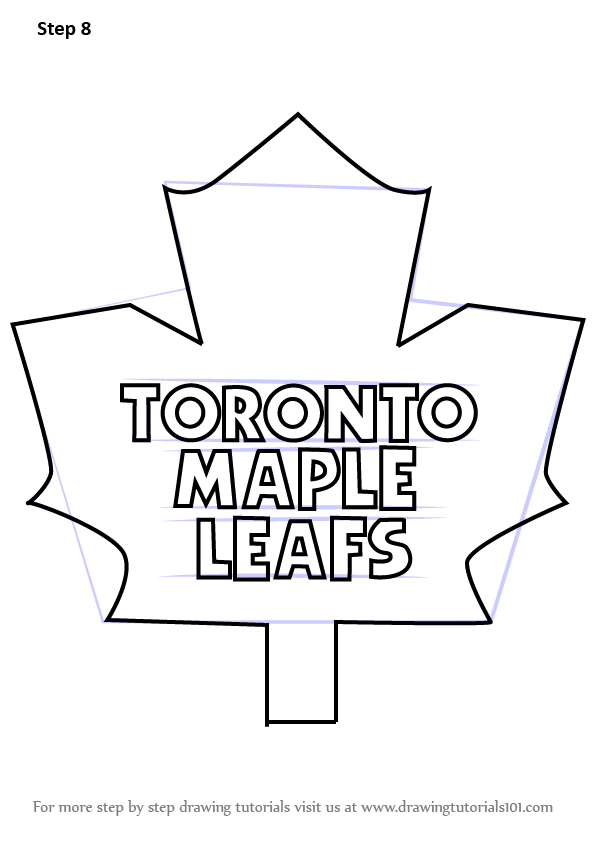 596x842 Learn How To Draw Toronto Maple Leafs Logo (Nhl) Step By Step