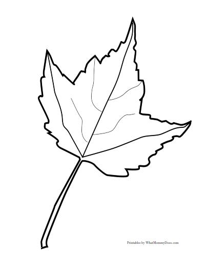 404x524 Free Printable Maple Leaf Patterns