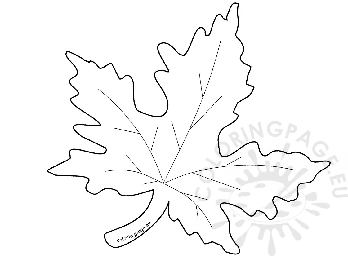 1122x826 Autumn Maple Leaf Template Coloring Page