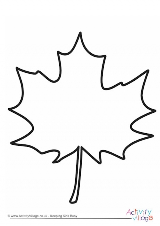 320x452 Maple Leaf Template