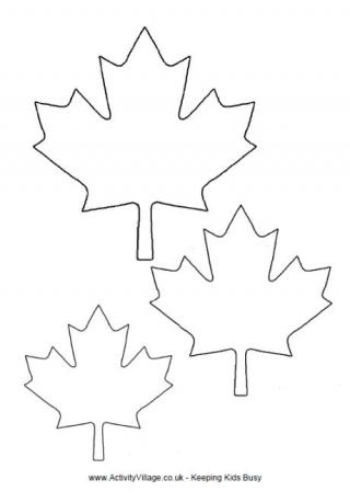 320x459 Canadian Maple Leaf Pattern. Use The Printable Outline For Crafts