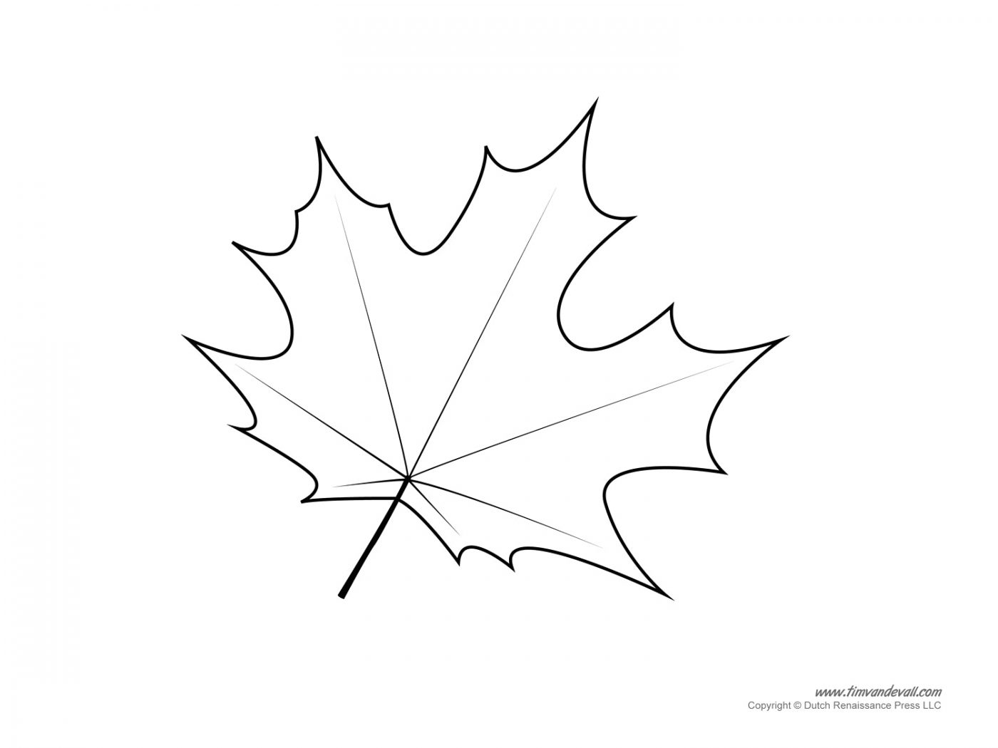 1400x1050 Maple Leaf Coloring Pages Easy For Toodler Free Leaves Page