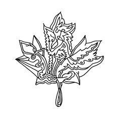236x236 Canadian Maple Leaf Colouring Page By Donald Lee Canadian Maple