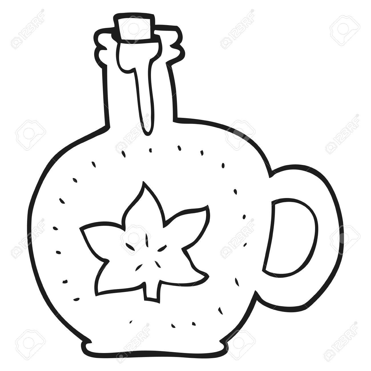 1300x1300 Freehand Drawn Black And White Cartoon Maple Syrup Royalty Free