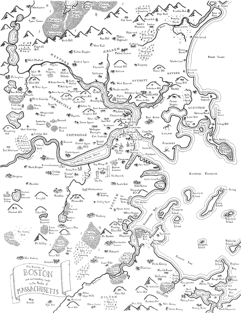 800x1038 Maps Of Modern Cities Drawn In The Style Of J.r.r. Tolkien