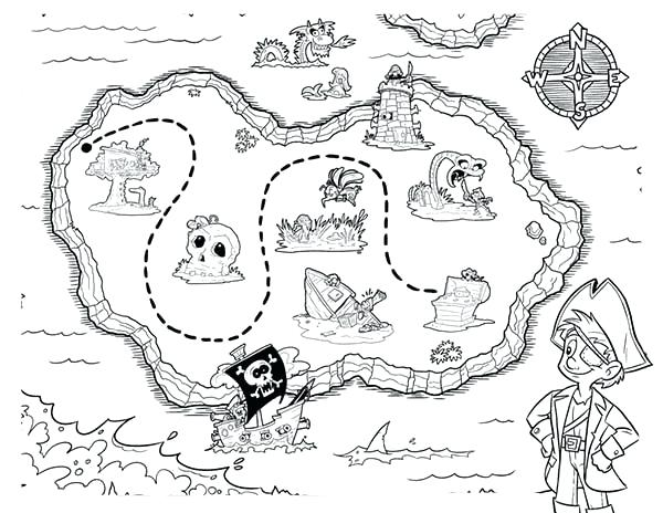 600x464 Treasure Map Coloring Pages Maps Picture Of Pirate Treasure Maps