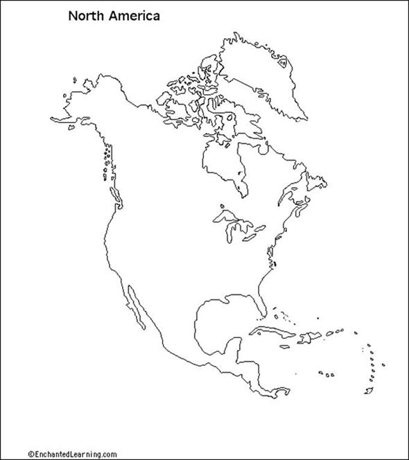 590x664 North America Map Drawing Using Grid