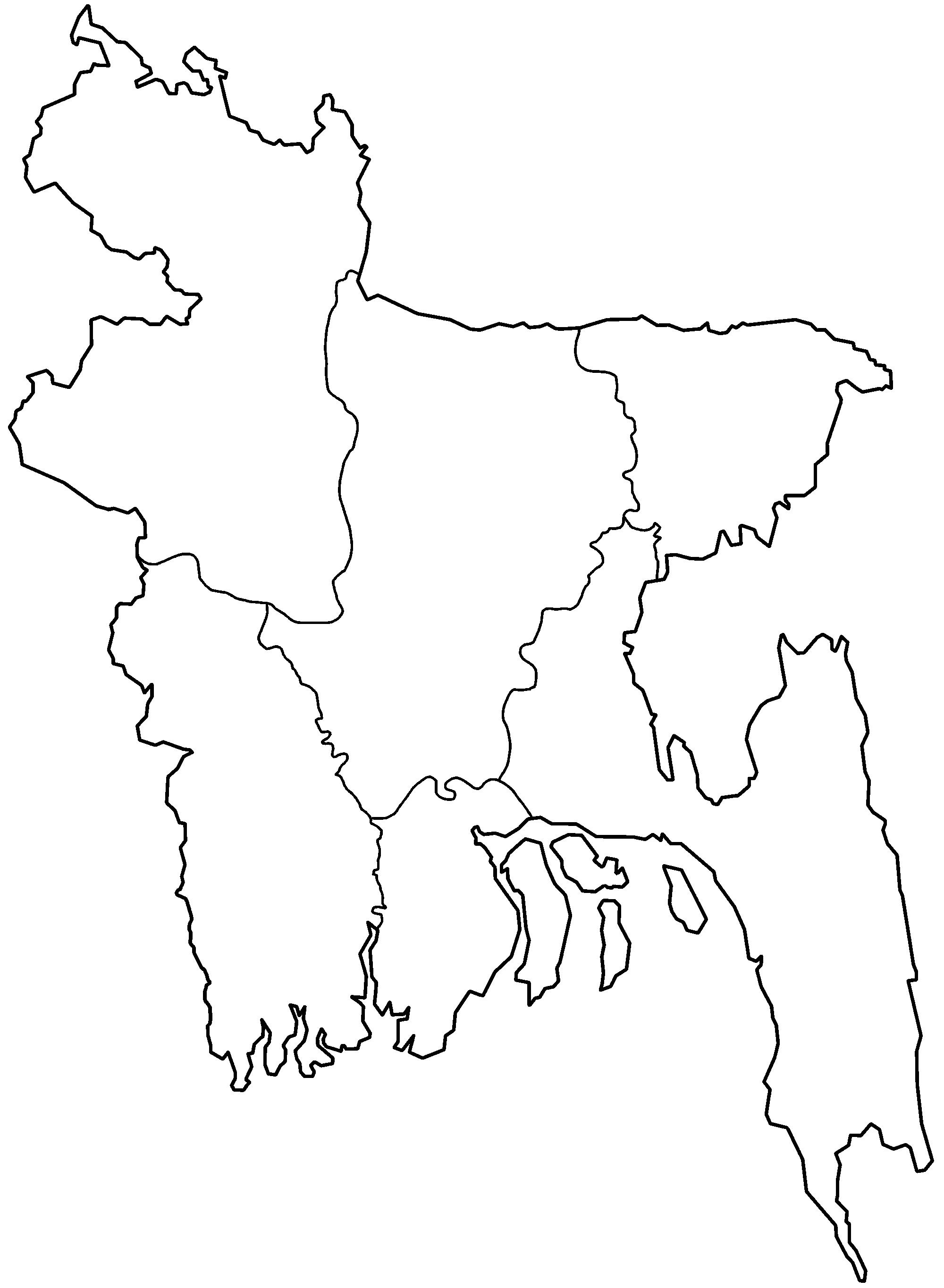 2000x2729 Bangladesh Map Drawing