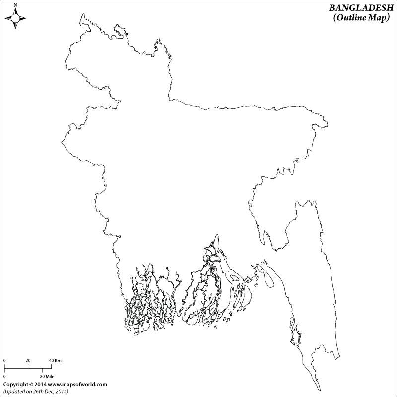 800x799 Blank Map Of Bangladesh Bangladesh Outline Map